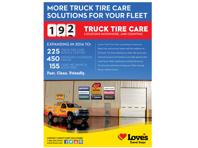 By The Numbers Ad - Truck Tire Care